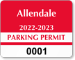 Parking Labels - Design CD5