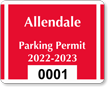 Parking Labels - Design CD6