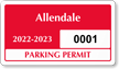 Parking Labels - Design CD8