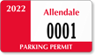 Parking Labels - Design CD10