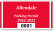 Parking Labels - Design CD12