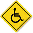 Handicapped On-Board Car Hang Tag and Label