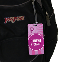 Parent Pick-Up tag for School