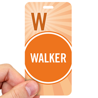 Walker Pass Backpack Wavy Stripes Design Tags