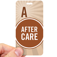 After Care Polka Dot Design Pass Backpack Tags