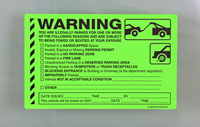 Fluorescent Green Parking Violation Stickers