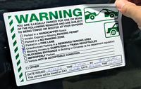 Fluorescent Orange Removable Parking Violation Stickers