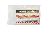 Private Parking Area Removable Stickers