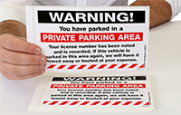 Warning, You Have Parked in a Private Parking Area