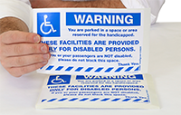 Handicapped Parking Violation Stickers: You are Parked in a Space Reserved for Handicapped