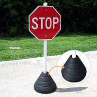 Recycled Rubber Sign Base with PVC post
