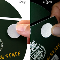 Engineer Grade Reflective Dots For Parking Hang Tags