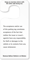 Jumbo Numbered Parking Permit Hang Tags