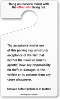 ToughTag™ Standard Rearview Mirror Hang Tags, Yellow