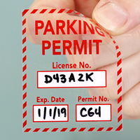 Parking Permit Static Cling Vinyl Decal