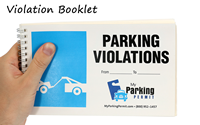 Parked In Private Parking Area Violation Warning Permit
