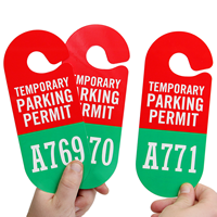 Temporary Parking Permit Hang Tag, Sequentially Numbered