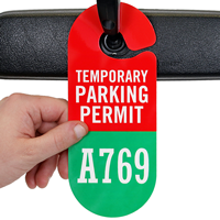 Temporary Parking Permit Hang Tag