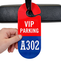 VIP Parking Permit Hang Tag, Sequentially Numbered