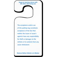 Handicap Parking Permit Rearview Mirror Jumbo Hang Tags