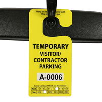 Jumbo Parking Permit Hang Tag