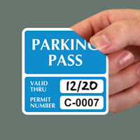 Parking Pass Numbered Decals