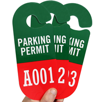 Racetrack Numbered Parking Permit Hang Tag