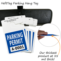 HDPE Plastic Parking Hang Tags