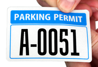 Reflective Blue Parking Permit