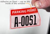 Reflective Vinyl Parking Permit