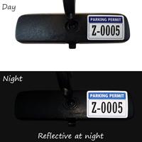 Reflective Vinyl Parking Permit