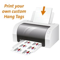 photo about Printable Hang Tags identified as Blank Laser Cling tags Printable Tags, SKU - TG-0194