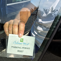Horizontal Vinyl Parking Permit Holders for Inside Window