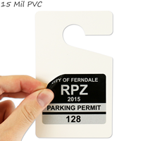 Versitile hang tag can be used for your parking stickers