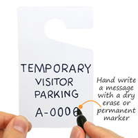 Clear In Stock Parking Permit