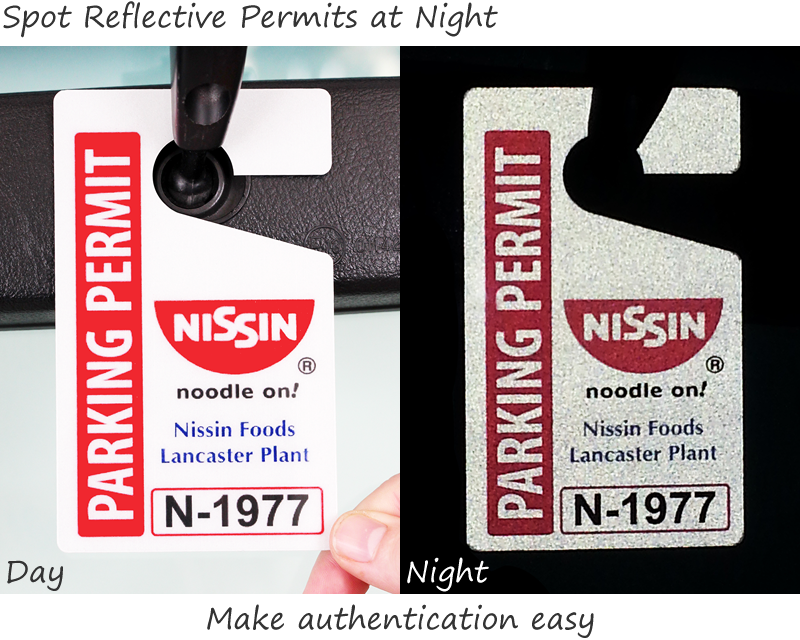 Reflective Parking Permits