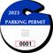 Custom Circular Parking Permit Hang Tag with Logo