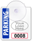 Custom Suction-Cup Mini Parking Permits with Logo, Numbering