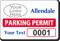 Parking Labels - Design LL17