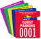 Guest Parking Permit Mirror Hang Tag, Small Size