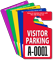 Visitor Parking Permit Mirror Hang Tag