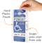 VisorTag Magnetic Parking Permit Holder and Protector, Horizontal