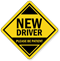 New Driver Car Hang Tag and Label